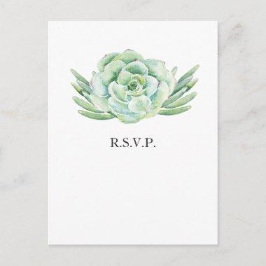 watercolor succulent wedding rsvp invitation postInvitations