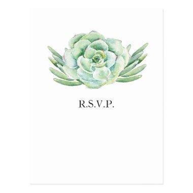 watercolor succulent wedding rsvp post