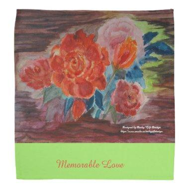 Watercoloring Joyful Wedding arrangement Bandana