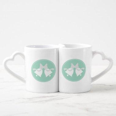 Wedding Bells Matching Bride and Groom Mugs