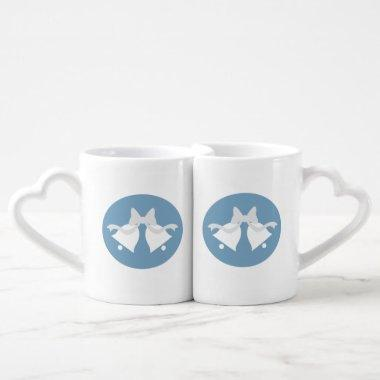 Wedding Bells Matching Bride and Groom Mugs