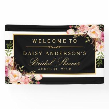 Wedding  Modern Vintage Floral Decor Banner