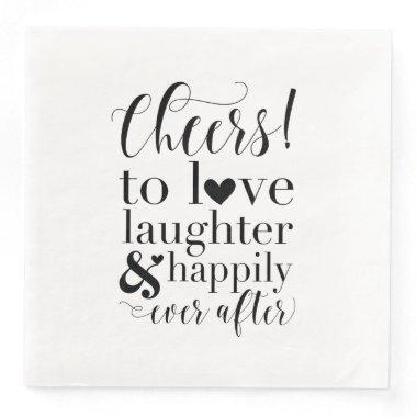 Wedding &  Napkins - Cheers to Love