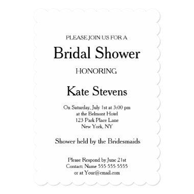 Wedding  Plain Invitation