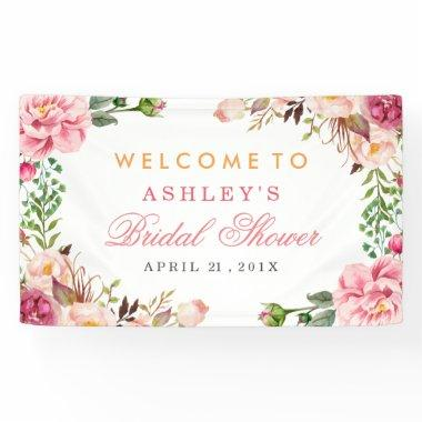 Wedding  Romantic Chic Floral Wrapped Banner