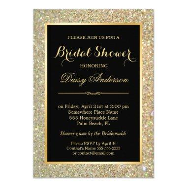 Wedding  Trendy Gold Glitter Sparkles