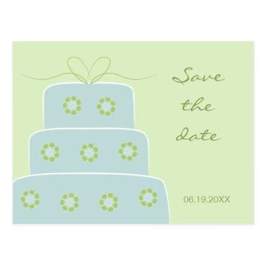 Wedding Cake Save the Date Post