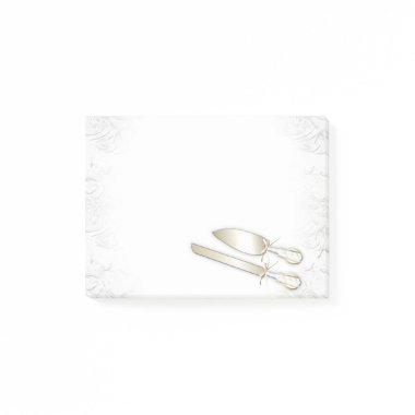 WEDDING cartoon NOTE POST Post-it® Notes 4 x 3