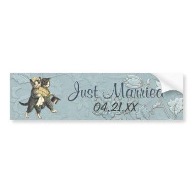 Wedding Cats Bumper Sticker