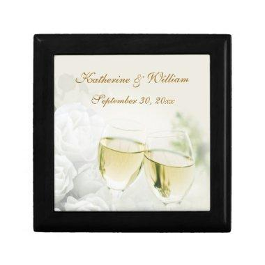 Wedding Champagne Roses Keepsake Box