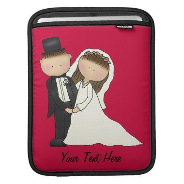 Wedding Couple (customizable) iPad Sleeve