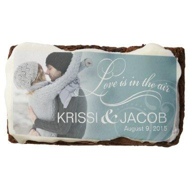 Wedding Couple Photo  | icy blue Brownie