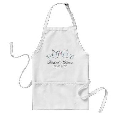 Wedding Doves Couples Adult Apron