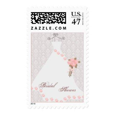 Wedding dress and roses  Postage