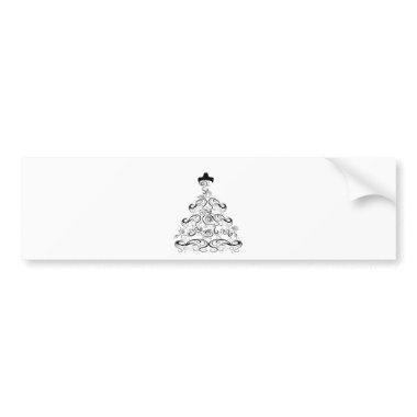 Wedding Dress Bumper Sticker
