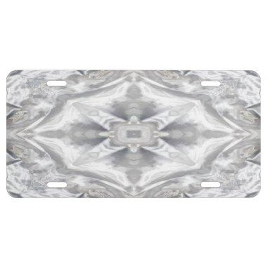 Wedding Dress Kaleidoscopes Abstracts License Plate