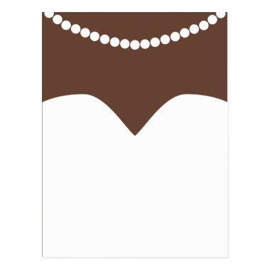 Wedding Dress Pearl Necklace Brown Skin Bridal PostInvitations