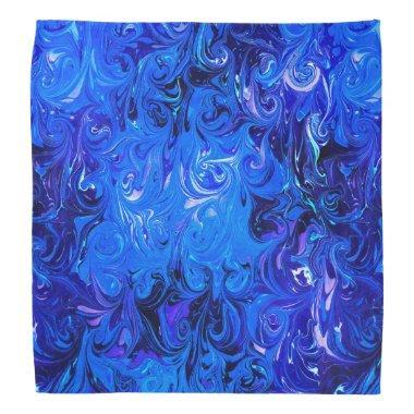 Wedding elegant blue vintage chic pattern bandana
