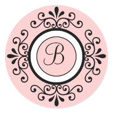 Wedding Envelope Seal Stickers Initial B