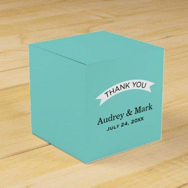 Wedding Favor Container | Aqua Blue Favor Box