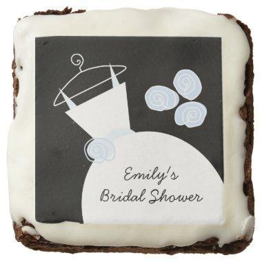 Wedding Gown Blue 'Bridal Shower' brownies black