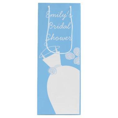 Wedding Gown Blue  wine Wine Gift Bag