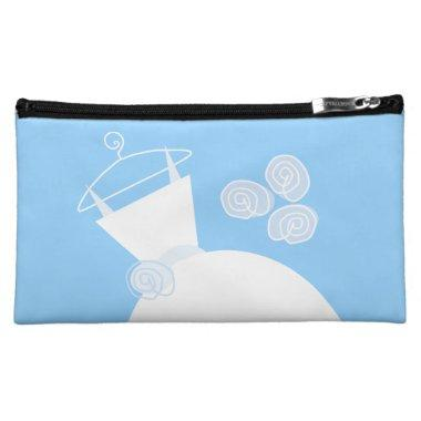 Wedding Gown Blue 'Bride' cosmetic Cosmetic Bag