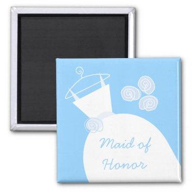 Wedding Gown Blue 'Maid of Honor' Magnet