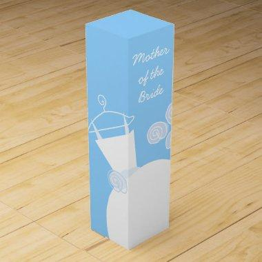 Wedding Gown Blue Mother Bride wine box