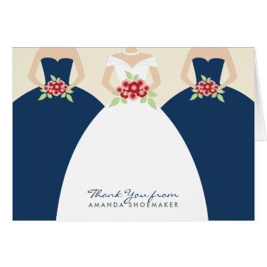 Wedding Gown  Thank You  (navy)