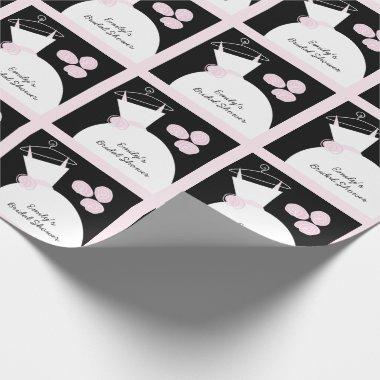 Wedding Gown Pink '' black pastel Wrapping Paper
