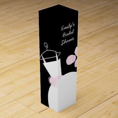 Wedding Gown Pink Bridal Shower black wine box