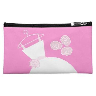 Wedding Gown Pink 'Bridal Shower' cosmetic Makeup Bag