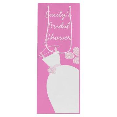 Wedding Gown Pink  gift bag wine