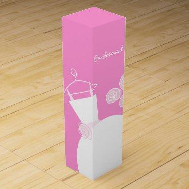 Wedding Gown Pink Bridesmaid wine box