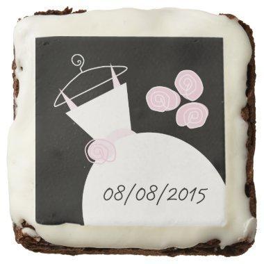 Wedding Gown Pink 'Date' brownies black