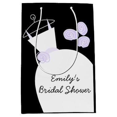 Wedding Gown Purple  black medium Medium Gift Bag
