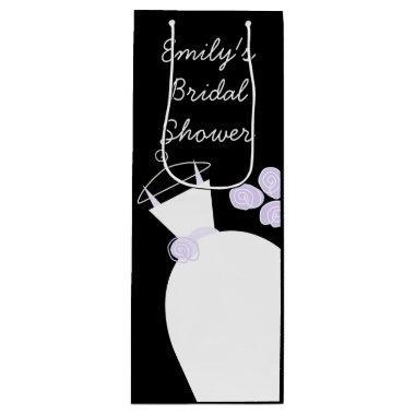 Wedding Gown Purple  black wine Wine Gift Bag