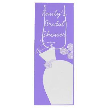 Wedding Gown Purple  wine Wine Gift Bag