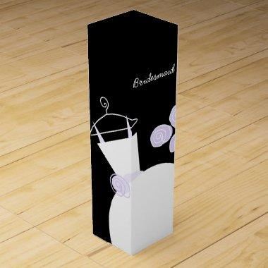 Wedding Gown Purple Bridesmaid black wine box