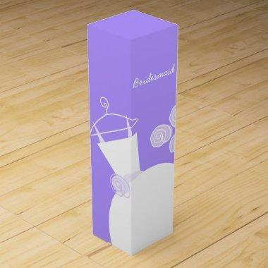 Wedding Gown Purple Bridesmaid wine box