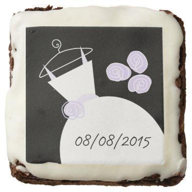 Wedding Gown Purple 'Date' brownies black
