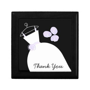 Wedding Gown Purple 'Thank You' black gift box