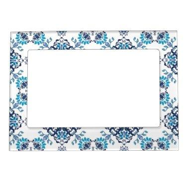 Wedding paisley tradition elegant pattern magnetic frame