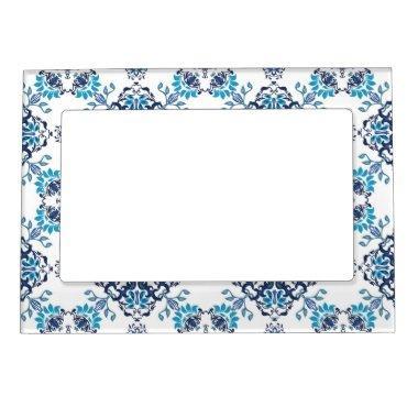 Wedding paisley tradition elegant pattern magnetic frame