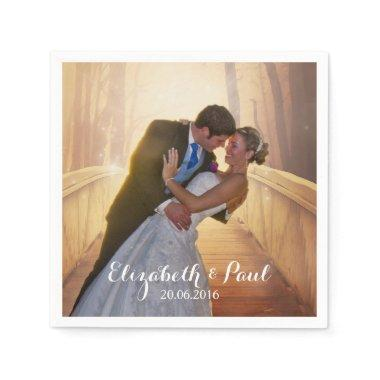 Wedding Photo Personalized Napkin