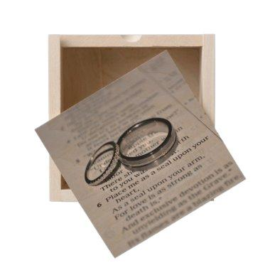 Wedding Rings Wooden Keepsake Box