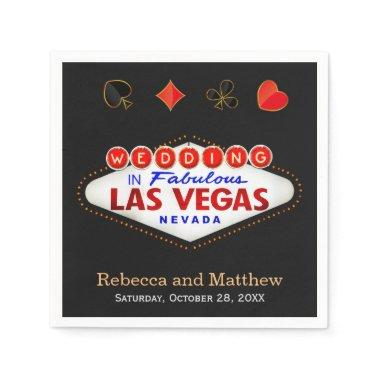 Wedding Shower Las Vegas Wedding Party Paper Napkin