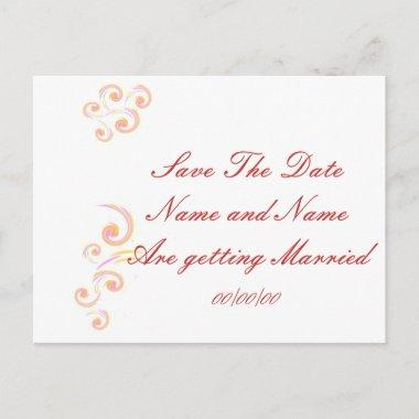 Wedding Stationary Light Curl set Save The Date Announcement Post