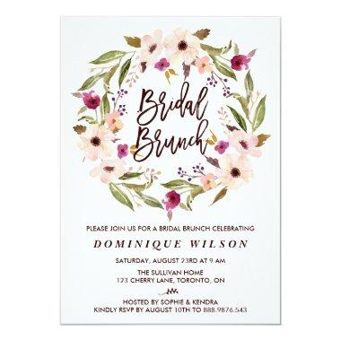 Whimsical Bohemian Floral Wreath Bridal Brunch
